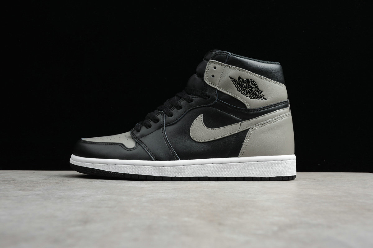 Cheap Nike Air Jordan 1 Retro High OG 555088-013 Black Medium Grey White Noir Blanc Gris Moyen