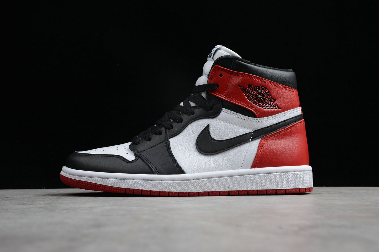 Cheap Nike Air Jordan 1 Retro High OG 555088-125 White Black Varsity Red Blanc Varsity Rouge Noir