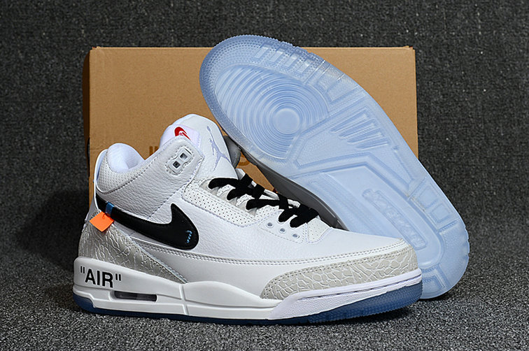 21ae5707b9288d Cheap Nike Air Jordan 3 Retro off white Triple White - Cheap Nike ...