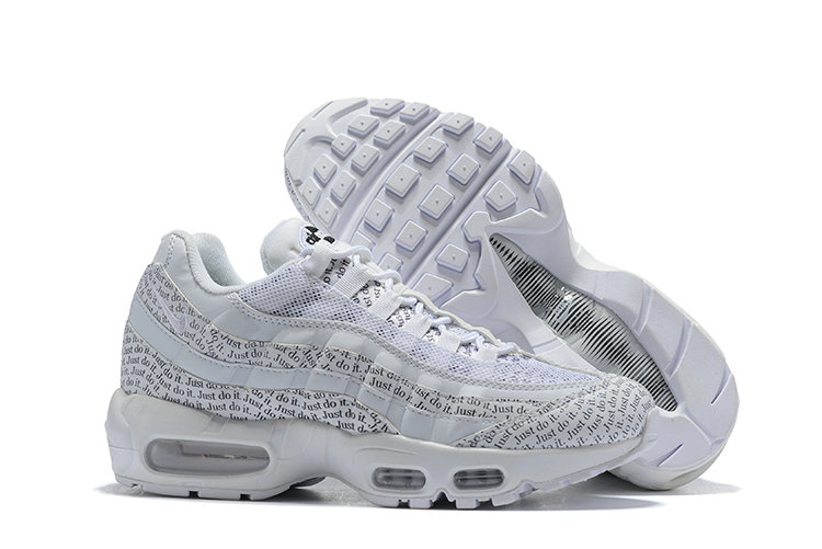 Cheap Nike Air Max 95 Running Shoes Just Do It Triple White