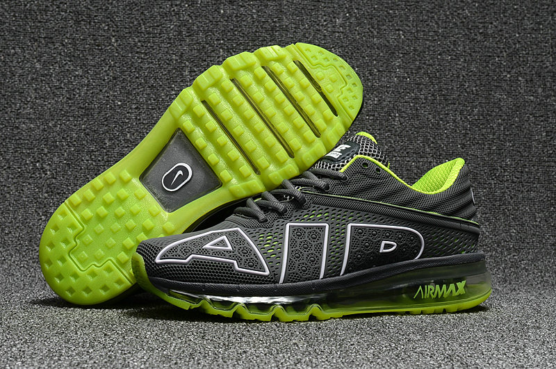 Cheap Nike Air Max Flair 2017 Mens Fluorescent Green Grey Sneakers