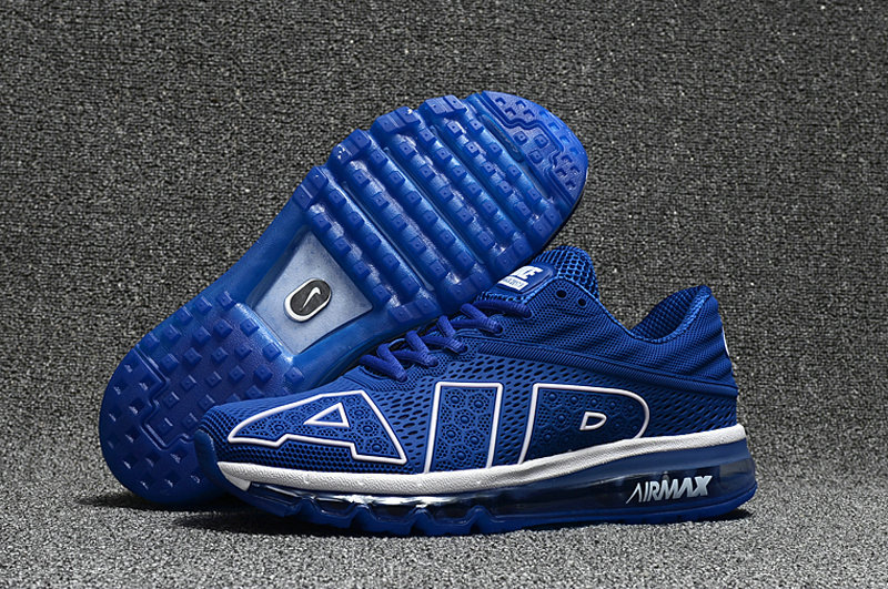Cheap Nike Air Max Flair 2017 Mens Royal Blue White Black Sneakers