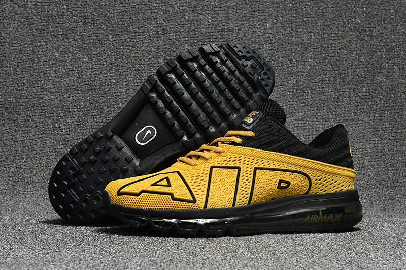 Cheap Nike Air Max Flair 2017 Mens Yellow Black Sneakers