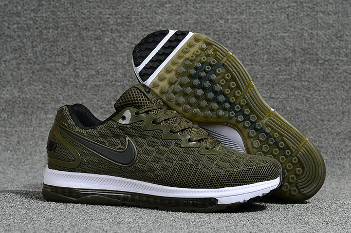 Cheap Nike Air Zoom All Out Flyknit Army Green White Black Running Shoes