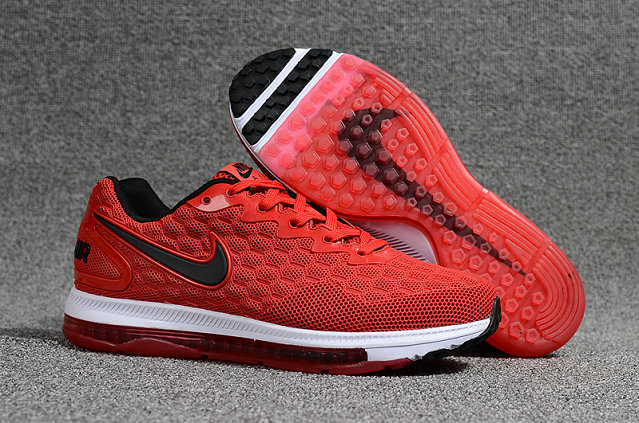 Cheap Nike Air Zoom All Out Flyknit Fire Red Black White Running Shoes