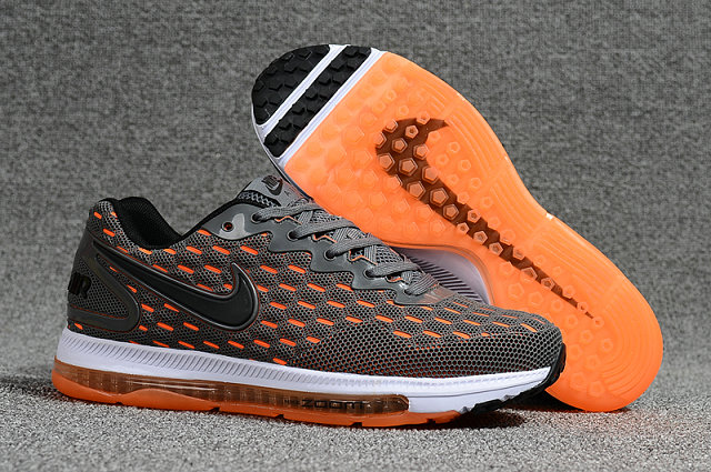 Cheap Nike Air Zoom All Out Flyknit Grey Orange White Running Shoes