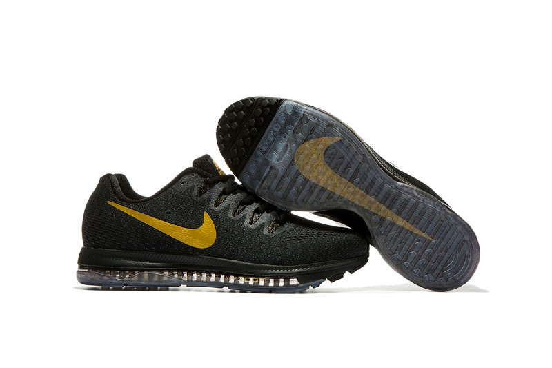 Cheap Nike Air Zoom All Out Flyknit Mens Gold Black