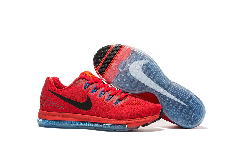 Cheap Nike Air Zoom All Out Flyknit Mens Red Blue Grey