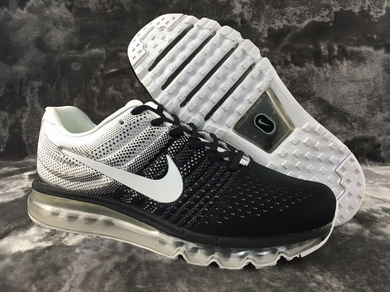 official photos 79caa 4b145 Cheap Nike Flyknit Air Max 2017 White Black