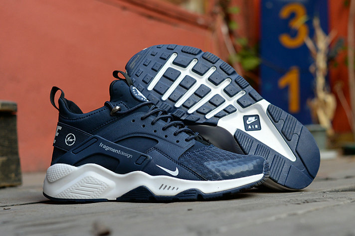b4ce839a4b7e New 2018 Nike Huarache Cheap x Nike Air Huarache Fragment HTM Navy Blue  White