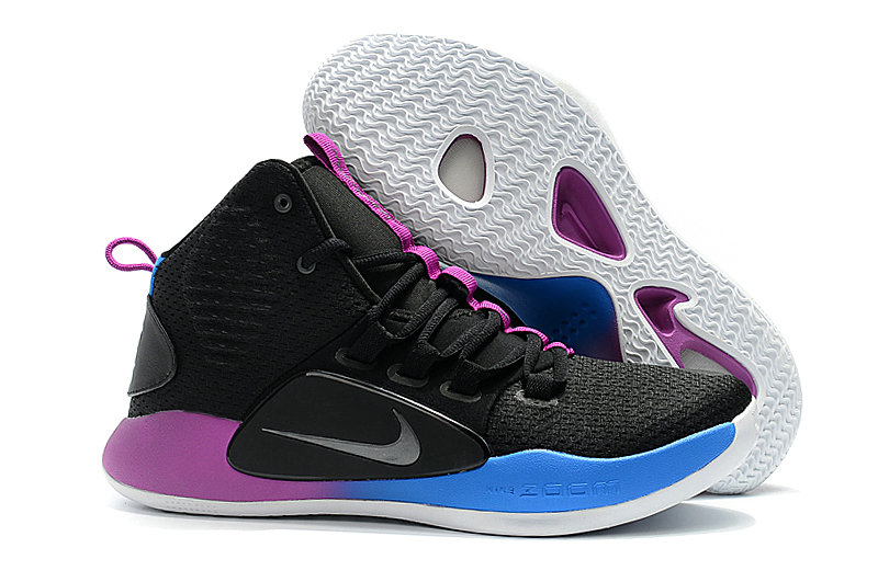 5b166de2e2fd Cheap Nike Hyperdunk X EP Basketball Shoes Black Purple Blue. Loading zoom