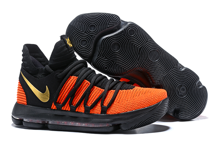 Cheap Nike KD 10 China Exclusive Black Orange Gold For Sale