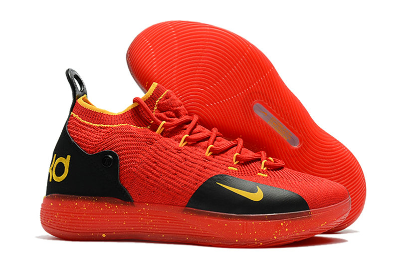best cheap fa0ae ff871 Cheap Nike KD 11 For Kids Red Yellow Black