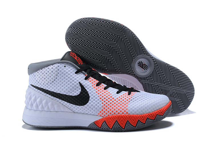 Cheap Nike Kyrie 1 Home White Black-Dove Grey-Infrared For Sale