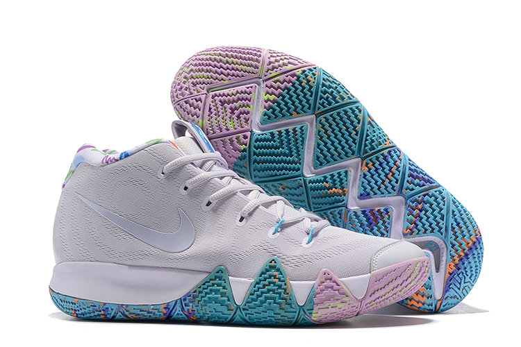 size 40 d00c2 5e657 Cheap Nike Kyrie 4 Irving Basketball Shoes Bright Grey Pure Purple Jade