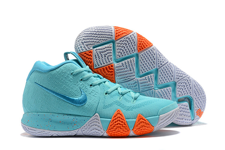 d018b859dc67 Cheap Nike Kyrie 4 Irving Basketball Shoes Orange White Apple Green