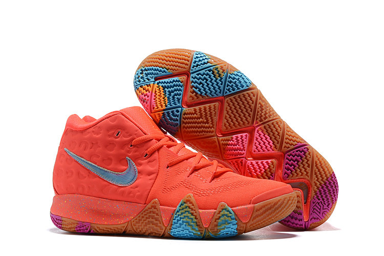 pretty nice 6a414 8c710 Cheap Nike Kyrie 4 Irving Basketball Shoes Red Blue Purple ...