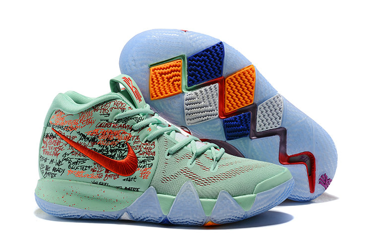 111800951b5 Cheap Nike Kyrie 4 Irving Basketball Shoes Red Jade Bright - Cheap ...