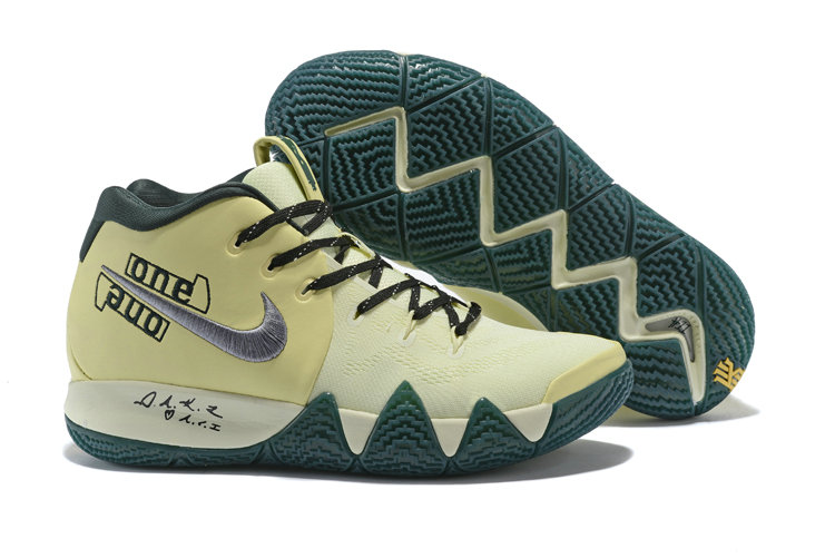782fc07d69b Cheap Nike Kyrie 4 Irving Basketball Shoes Rice Yellow Black Silver Grey