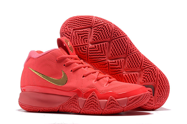 Cheap Nike Kyrie 4 Irving Basketball Shoes University Red Gold ... 5015b205f2d