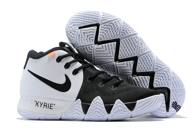 62b95df9f0c6 Cheap Nike Kyrie 4 Irving Basketball Shoes White Black - Cheap Nike ...
