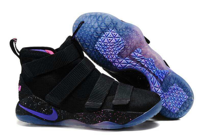bf8858941e7a Cheap Nike LeBron Soldier 11 Black Purple Pink Basketball Shoes For Sale
