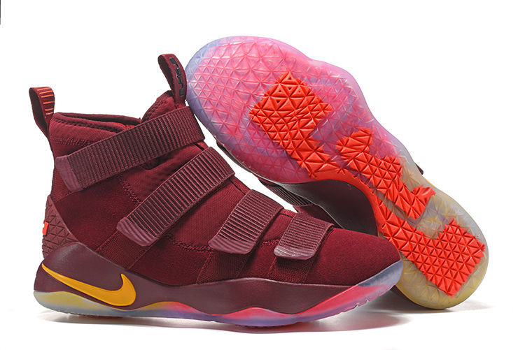 Cheap Nike LeBron Soldier 11 Cavs PE Basketball Shoes For Sale ... b3743102e