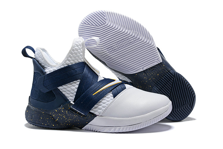 reputable site e8dec 5ce3d ... low cost cheap nike lebron soldier 12 navy blue white yellow ff36d d7d86