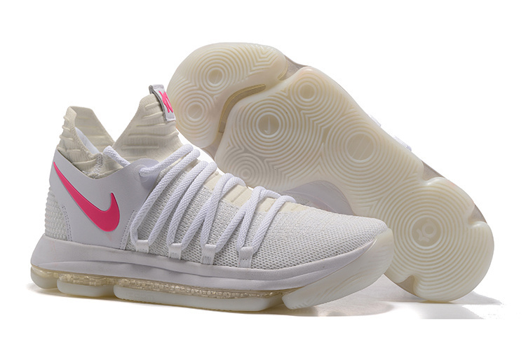 Cheap Nike Zoom KD 10 White Pink Glow in the Dark For Sale