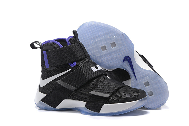 Cheap NikeLebronSoldier 10 Black White Purple
