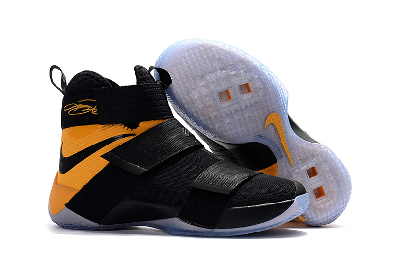 new style dff4b 818fb Cheap Sale Nike Lebron Soldier 10 Yellow Black White