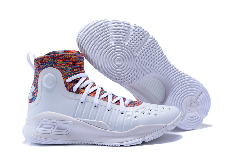 Cheap Under Armour Curry 4 White Multi-Color For Sale