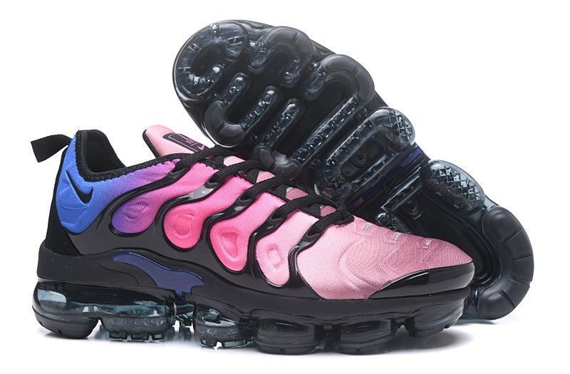 c20560a1009 New 2018 Cheapest Womens Nike Air VaporMax Plus Black Black-Team Red-Hyper  Violet
