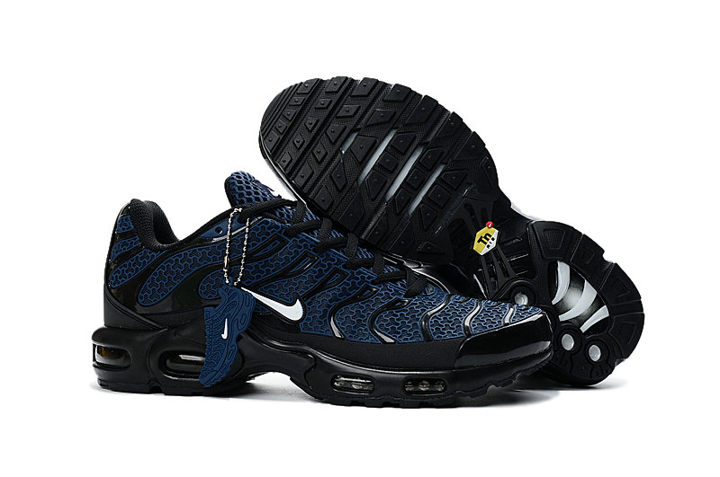 Customize Nike TN Shoes Cheap Nike Air Max Black Navy Blue