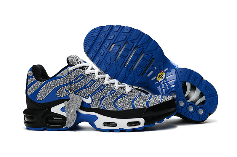Customize Nike TN Shoes Cheap Nike Air Max Grey Blue White Black