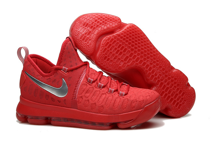 KD 9 Sport Red Silver Basketball Shoes 2016 For Sale