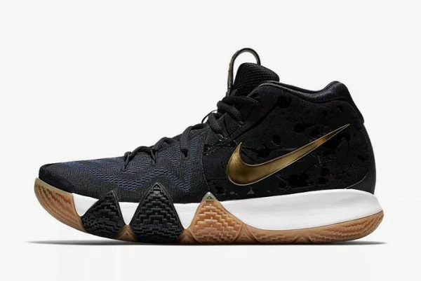 d1cf89f14ca Cheap Mens Nike Kyrie 4 Pitch Blue Metallic Gold Basketball Shoes 943807-403