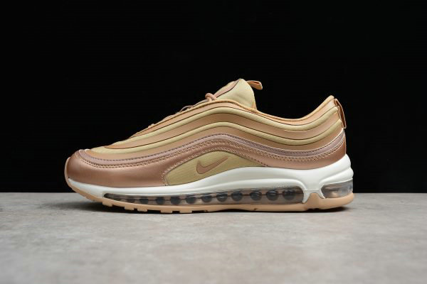 0af37729d3 Cheap Mens and WMNS Nike Air Max 97 Ultra Metallic Bronze White-Gum Light  Brown