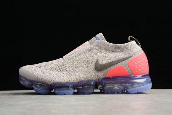 d836bbd85f82 Cheap Mens and WMNS Nike Air VaporMax Flyknit Moc 2 Moon Particle Solar Red -Indigo