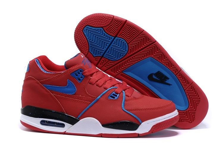 Nike Air Flight 89 University Red Game Royal Sports Basketball Shoes For Sale