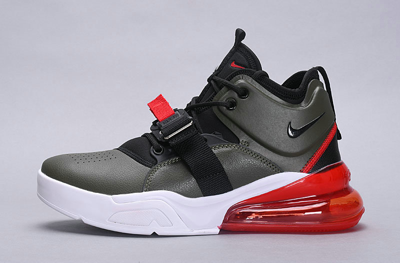 sports shoes 50182 38697 Nike Air Force 270 Black Gray Red