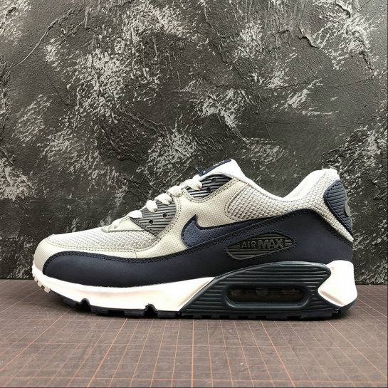 plutôt sympa 6eb79 873bb Nike Air Max 90 Essential 537384-065 Black Grey Red Noir ...