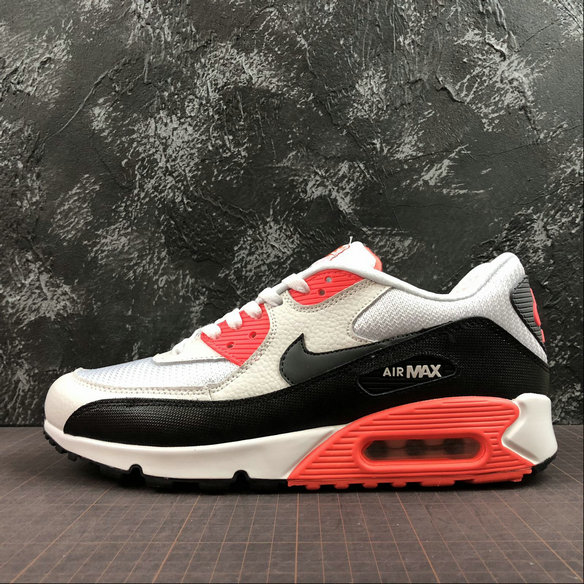 another chance 8d637 344a2 Nike Air Max 90 Essential 537384-126 Black White Orange Red Noir Blanc  Orange Rouge