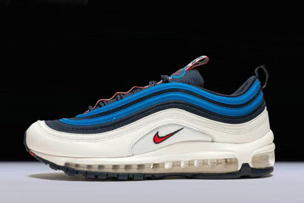 Cheap Nike Air Max 97 SE Pull Tab Obsidian University Red