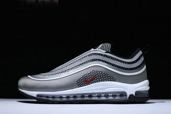 8ebb1d3166 Cheap Nike Air Max 97 Ultra 17 Silver Bullet Metallic Silver Varsity Red-Black  918356