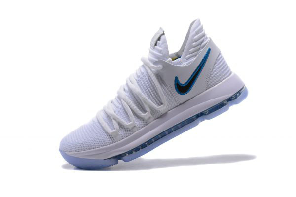 Cheap Nike KD 10 Numbers White Game Royal-University Gold Basketball Shoes 897815-101