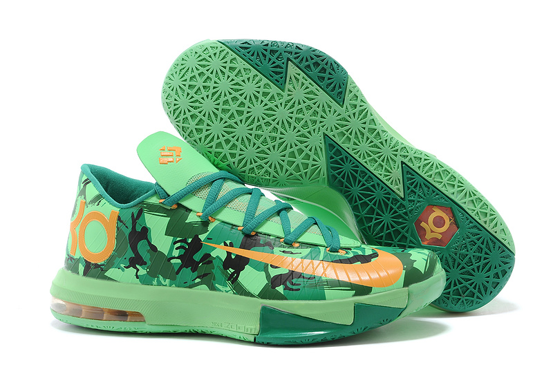 3aeda207be99 Nike Kevin Durant KD 6 VI Easter Light Lucid Green Atomic Mango-Lucid Green-