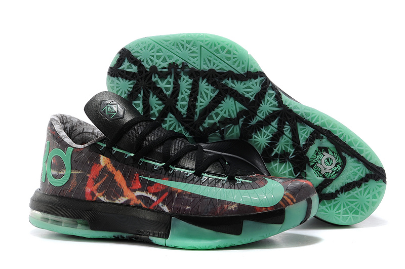 7afa74dc98c4 Nike Kevin Durant KD 6 VI Illusion All-Star Multi-Color Green Glow-