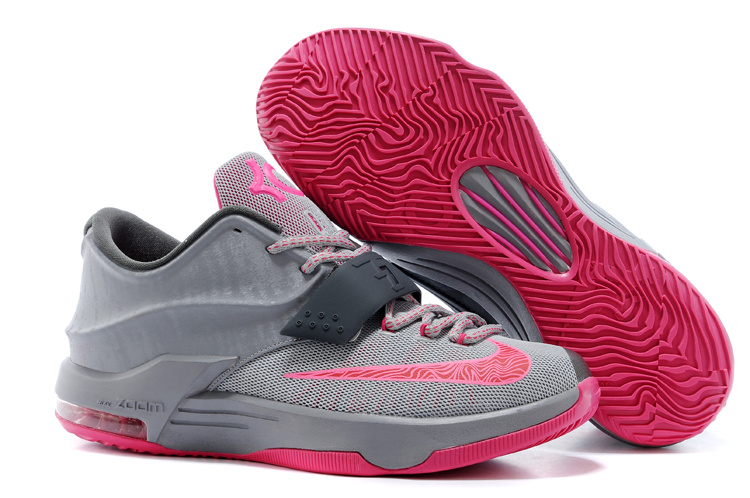 Nike Kevin Durant KD 7 VII Calm Before the Storm Grey Hyper Punch-Light Magnet Grey For Sale