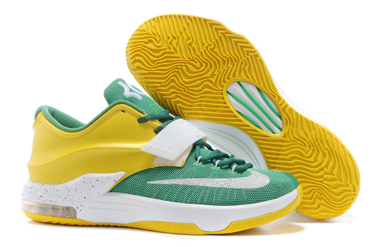 Nike Kevin Durant KD 7 VII Draft Day Apple Green Yellow Strike-White For Sale
